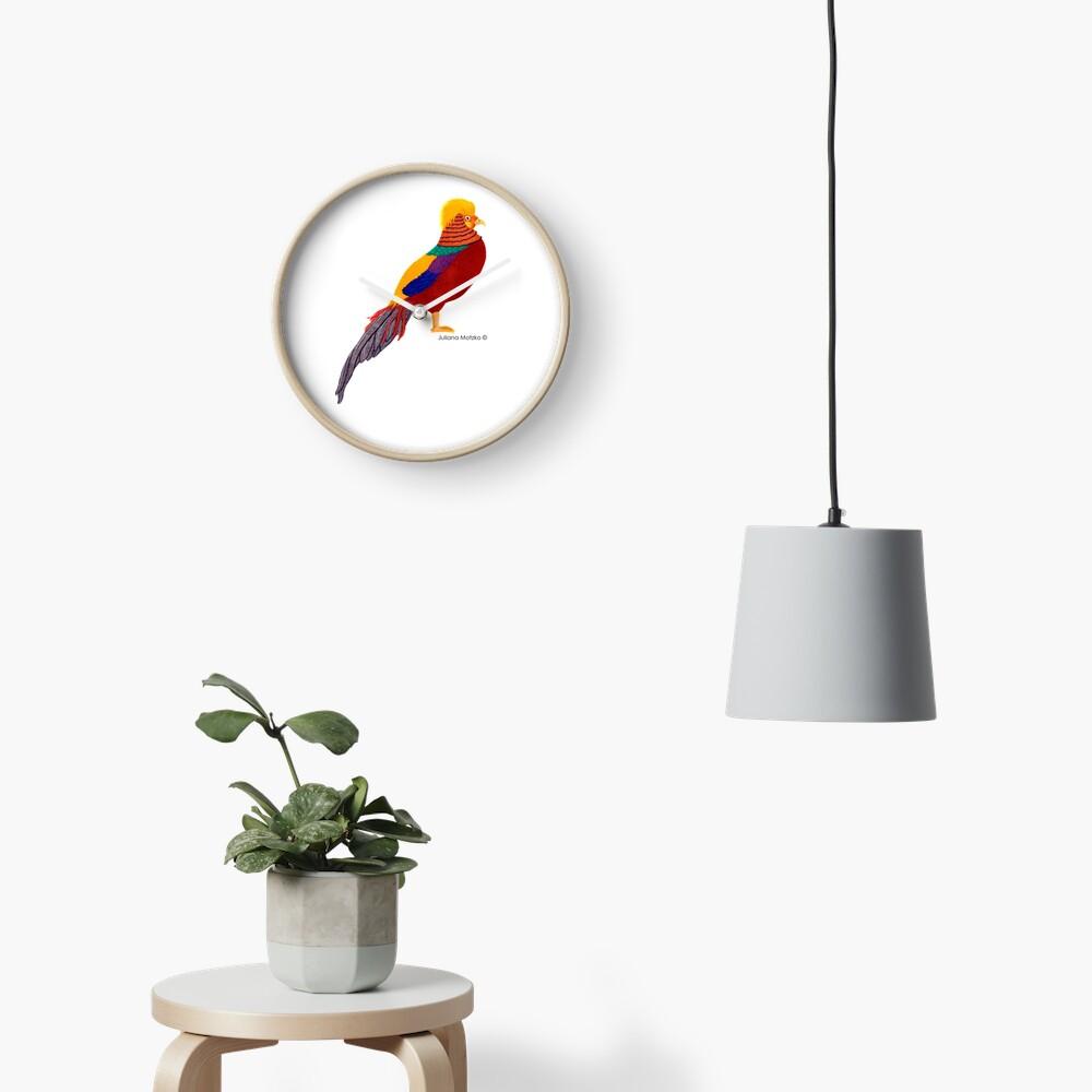 Golden Pheasant Clock