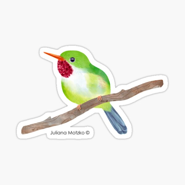 Jamaican Tody Bird Sticker