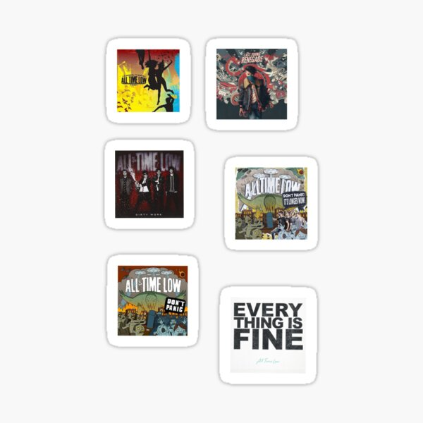 Time Low Album Cover Sticker Pack Sticker