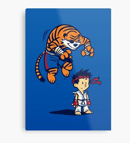 Tiger! - POSTER Metal Print