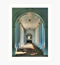 Colonnade Walkway Breezeway Perspective Art Print