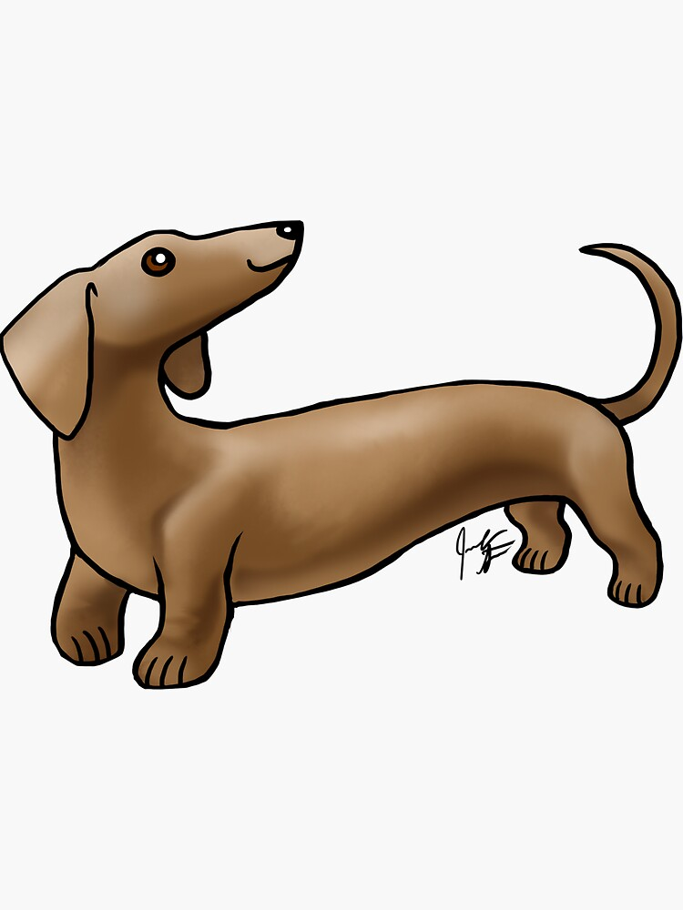 Smooth Coat Dachshund - Brown by jameson9101322