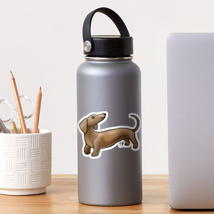 Smooth Coat Dachshund - Brown Sticker
