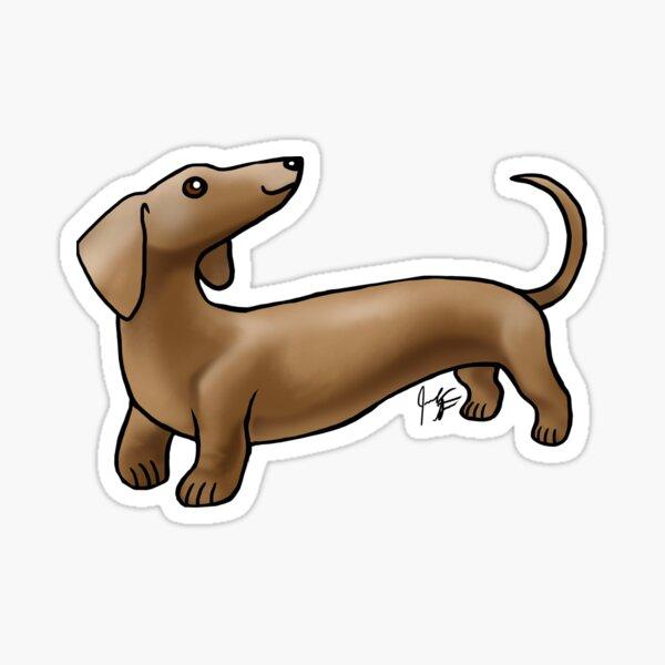 Smooth Coat Dachshund - Brown Sticker