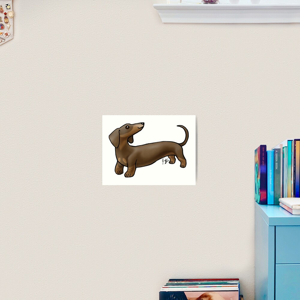 Smooth Coat Dachshund - Brown and Tan Art Print