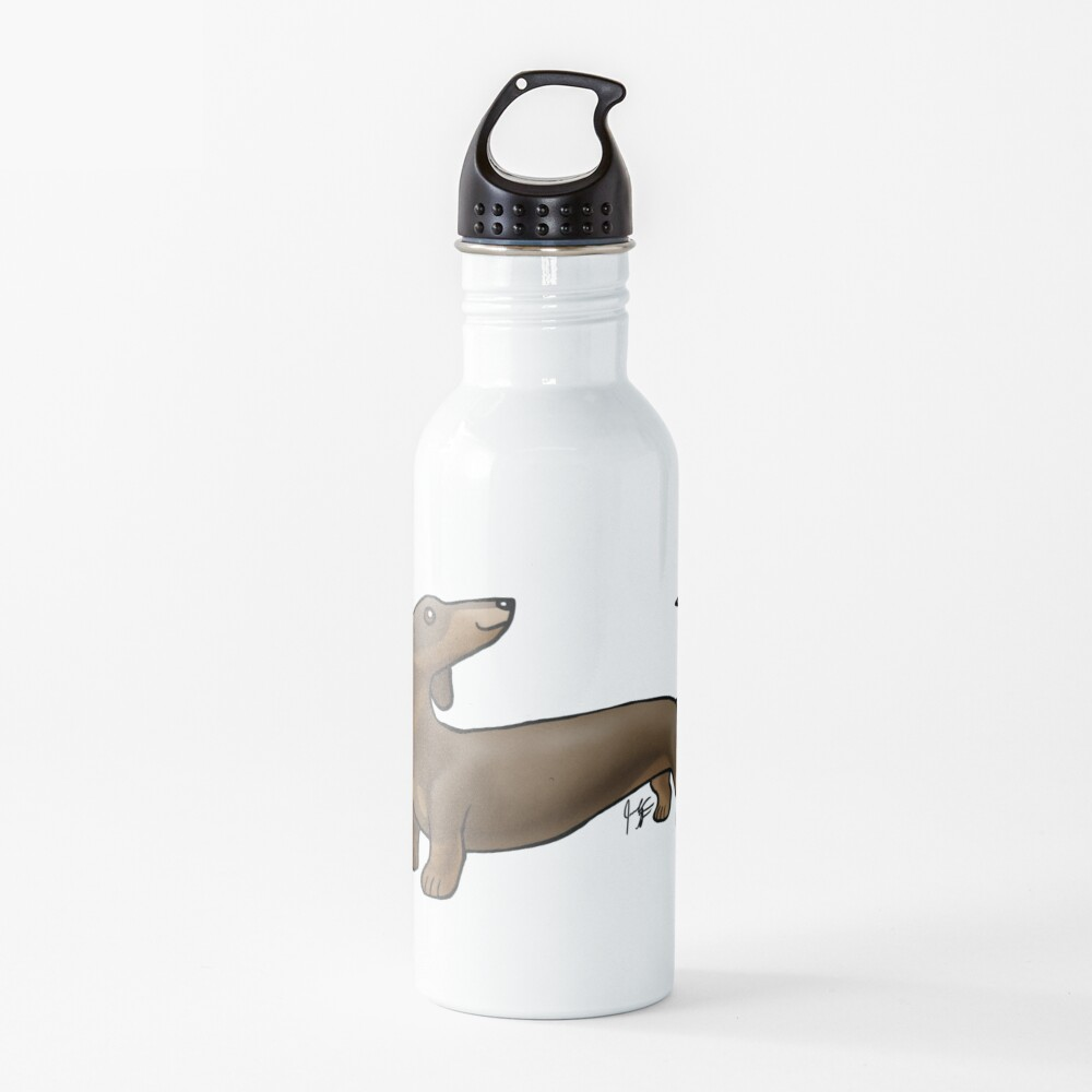 Smooth Coat Dachshund - Brown and Tan Water Bottle