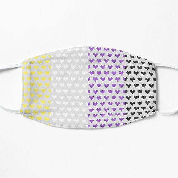 Non-binary Hearts Flat Mask