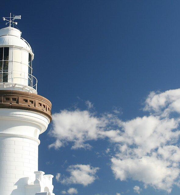 Blue Skies at the Lighthouse by Jennifer Saville
