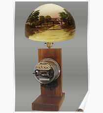 ❀◕‿◕❀ MY Antique Westinghouse OB Electric Watthour Meter Lamp ❀◕‿◕❀ Poster