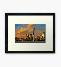 Sunset from Liberty Park Framed Print