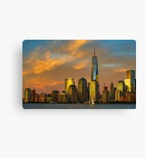 Sunset from Liberty Park Canvas Print