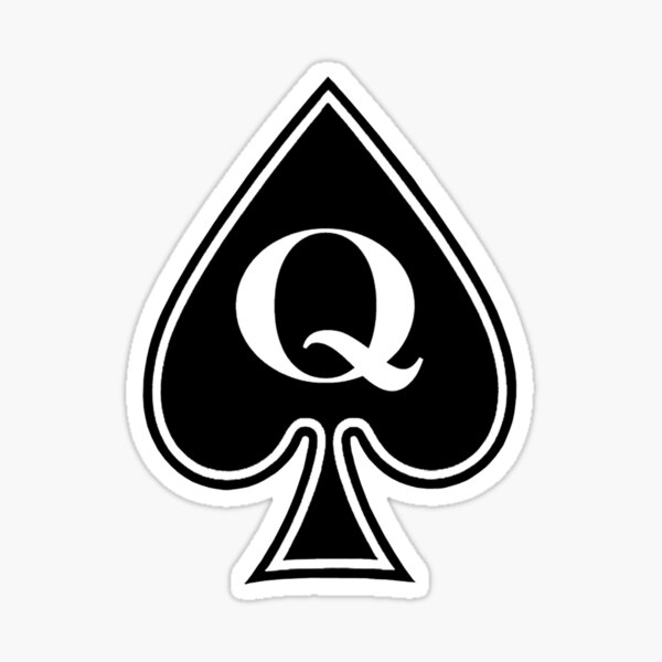 Queen of Spades Gifts and Products Sticker