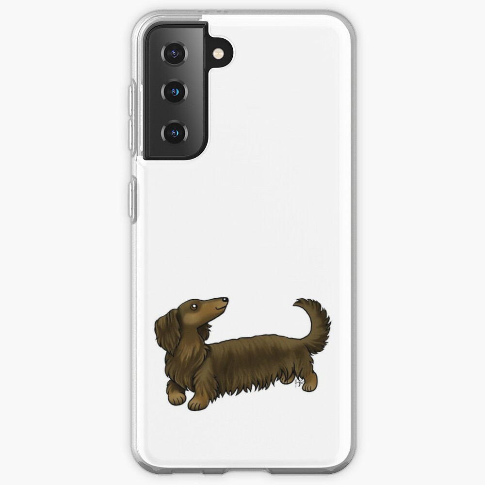 Long Haired Dachshund - Brown and Tan Case & Skin for Samsung Galaxy
