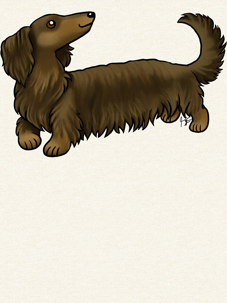 Long Haired Dachshund - Brown and Tan by jameson9101322