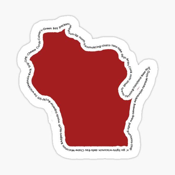 Wisconsin Words Sticker