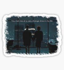 Fight Club - Strange Time Sticker
