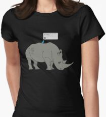 #Rhino #Savanna Womens Fitted T-Shirt