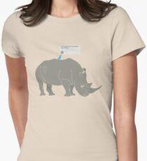 #Rhino #Savanna Women's Fitted T-Shirt
