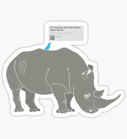 #Rhino #Savanna Sticker