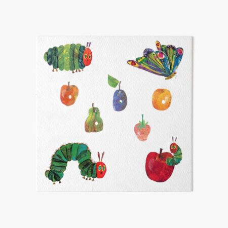 very hungry caterpillar sticker pack Art Board Print