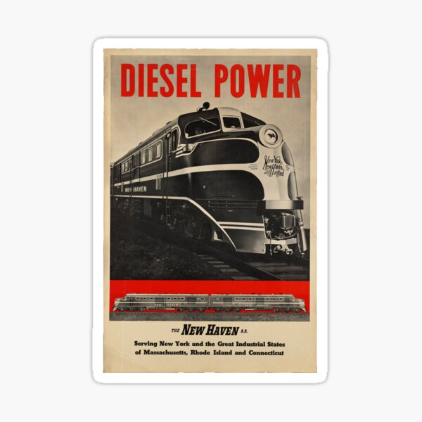 POSTER GREATER POWER NEW HAVEN RAILROAD USA TRAIN TRAVEL VINTAGE REPRO FREE S//H