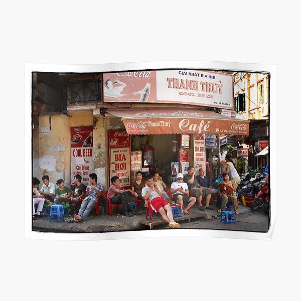 Vietnam - Hanoi - Old Quarter cafe/bar Poster