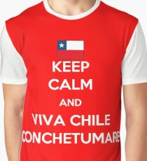Keep calm and viva Chile conchetumare Graphic T-Shirt