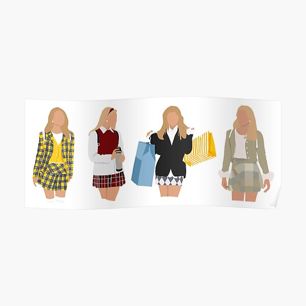 Cher's Outfits - Clueless Poster
