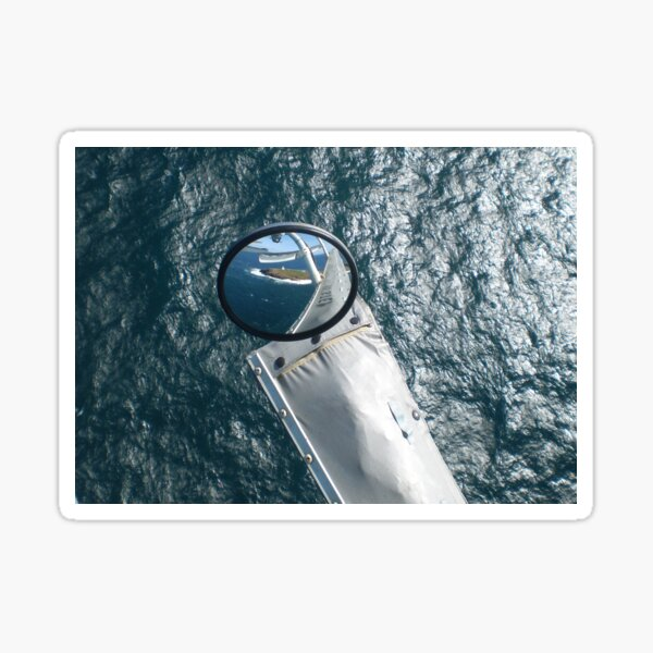 Helicopter Mirror Reflection Sticker