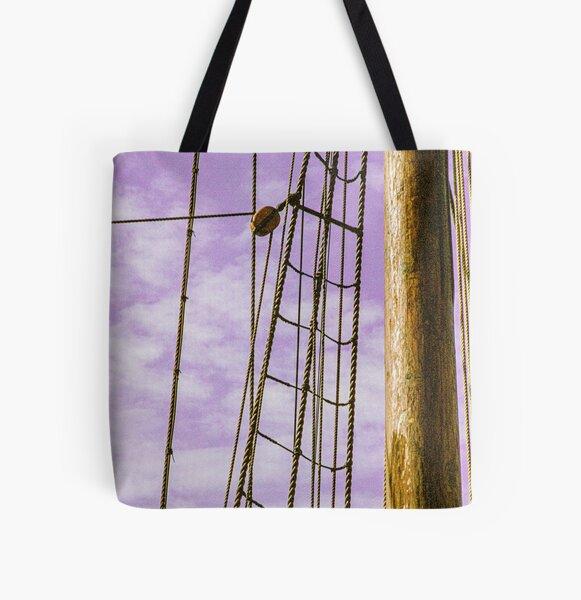 Sailship Rigging All Over Print Tote Bag