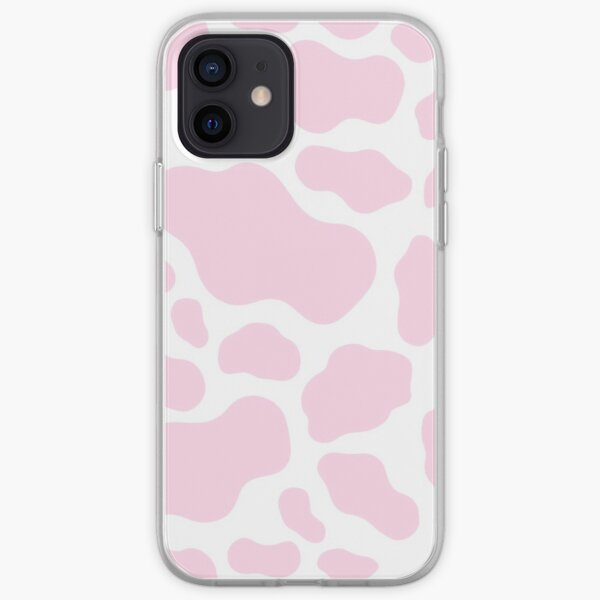 Estampado de vaca rosa Funda blanda para iPhone