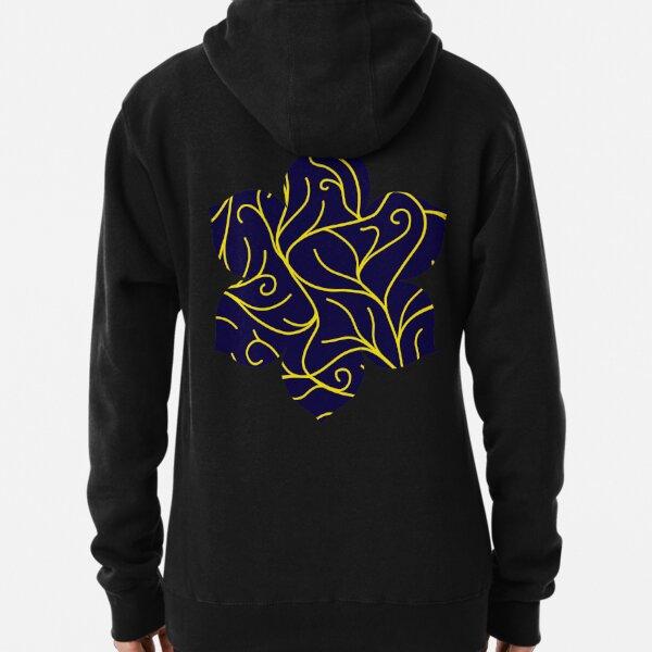 Blue Velvet, Golden Vines Pullover Hoodie
