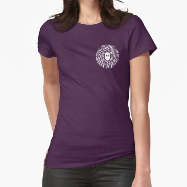 Yarn Ball Sheep Fitted T-Shirt