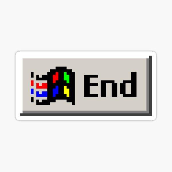 start button but it says end Sticker