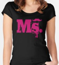 Ms. Mustache2 Women's Fitted Scoop T-Shirt