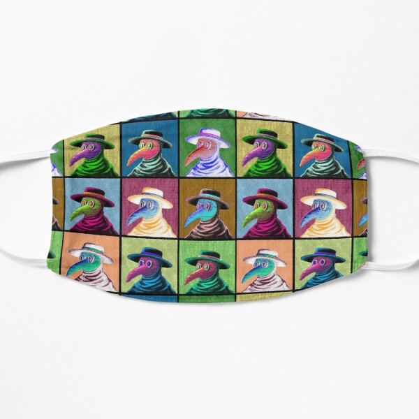 Pop Art Plague Doctor Flat Mask