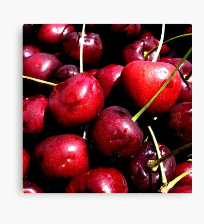 Cherries (available in ipad) Canvas Print