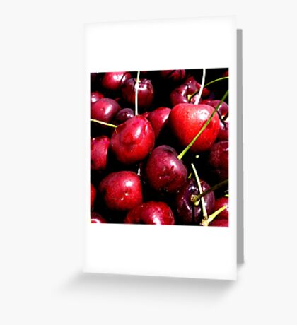 Cherries (available in ipad) Greeting Card