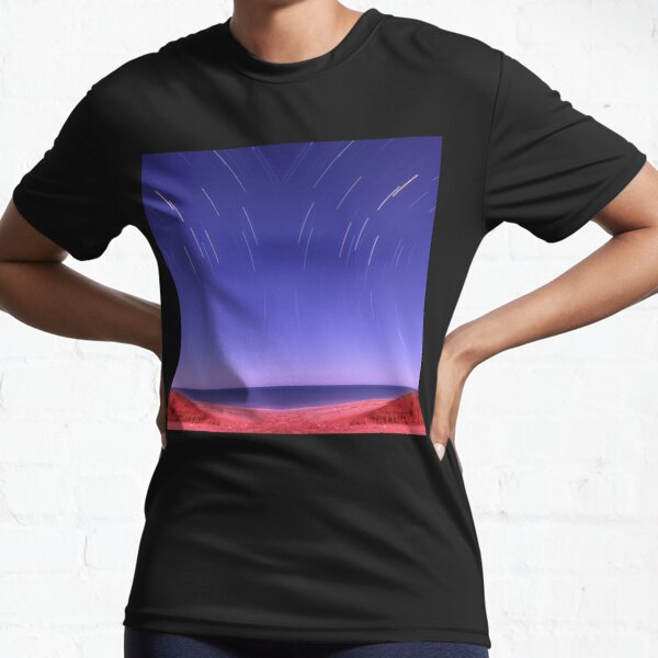 Star trails on Kimberley coast abstract Active T-Shirt