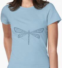 Stream Blue Dragonfly  Womens Fitted T-Shirt