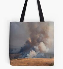 Fire in Yellowstone Tote Bag
