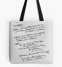 Yesterday Lyrics Tote Bag