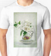 White Godetia Flowers Unisex T-Shirt