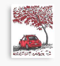 LOVE BUG     red Canvas Print