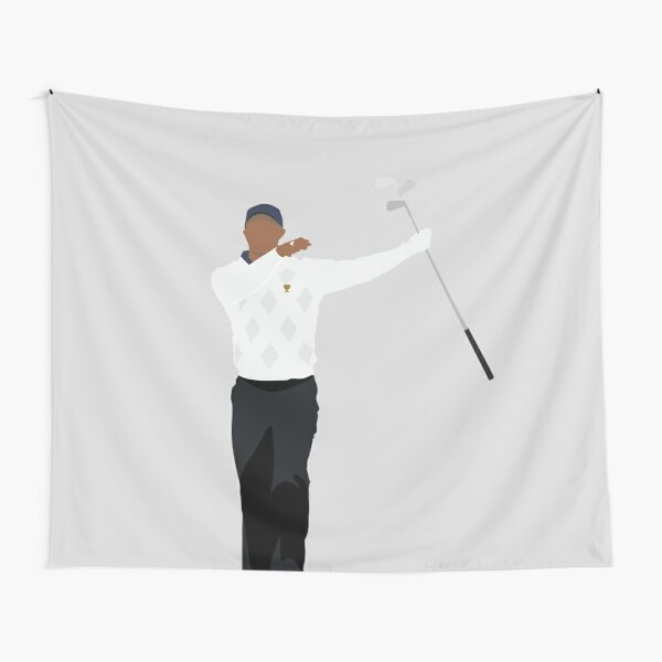 PRESIDENTS CUP CLUB TWIRL | TIGER WOODS GOLF Tapestry