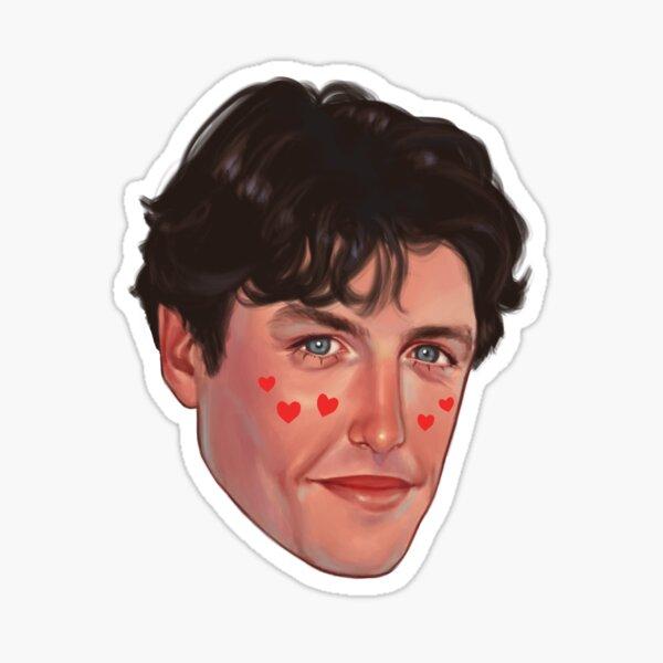 Hugh Grant Floating Head Sticker Sticker