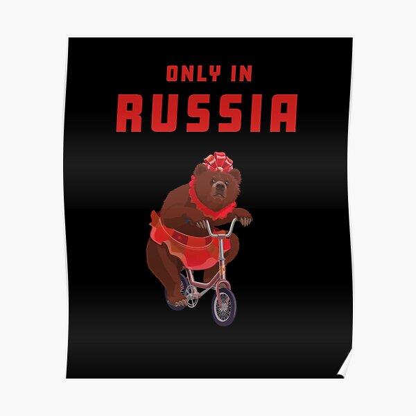 Russian bear circus Russia Poster
