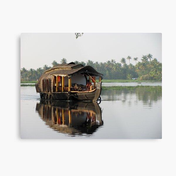 Kerala backwaters house boat  Metal Print
