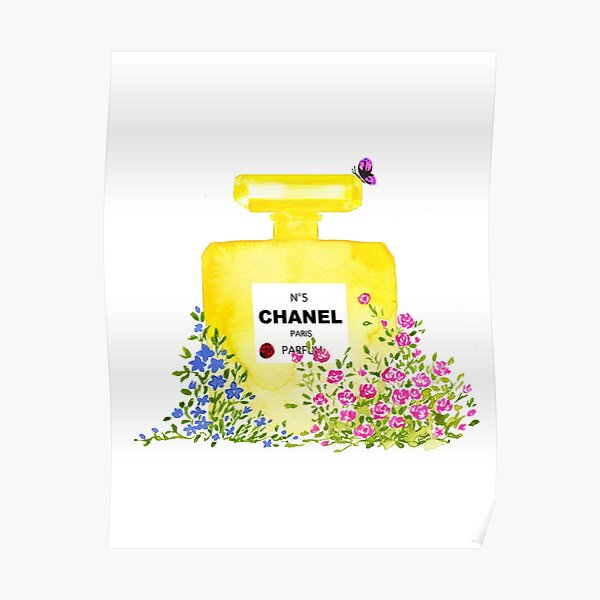 Yellow Perfume - Watercolor Fashion iIllustration  Poster