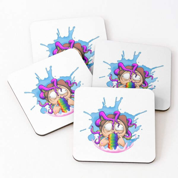 Morty Rainbow Squishy Coasters (Set of 4)
